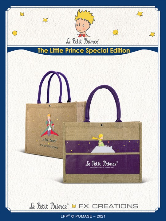 #####The Little Prince Linen Fabric Two-way Causal Bag LPPB001-23