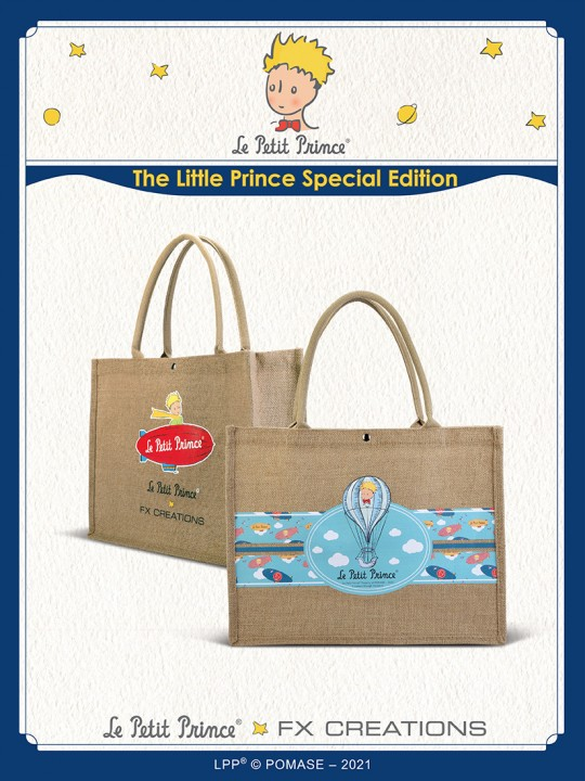#####The Little Prince Linen Fabric Two-way Causal Bag  LPPB001-54